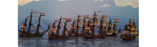 Anglo-Dutch wars ships. Scale 1/1200